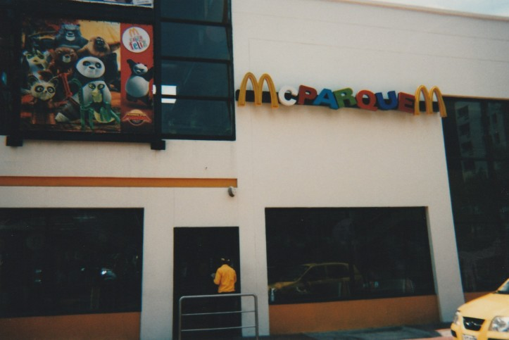 outside Colombian McDonald's restaurant