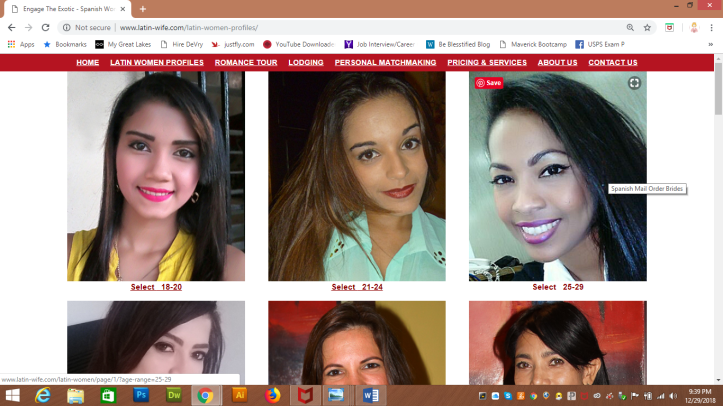 Latin Women Profiles webpage