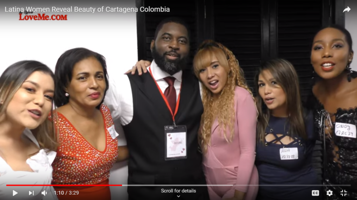 American man with Colombian women
