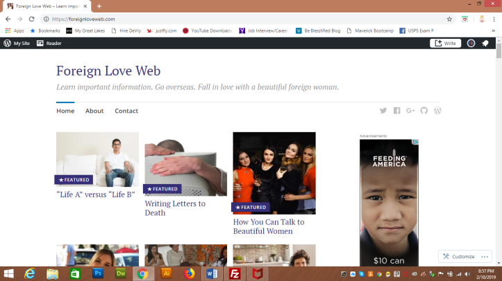 Foreign Love Web website