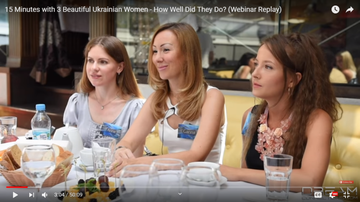 3 Ukrainian women meeting Rocky