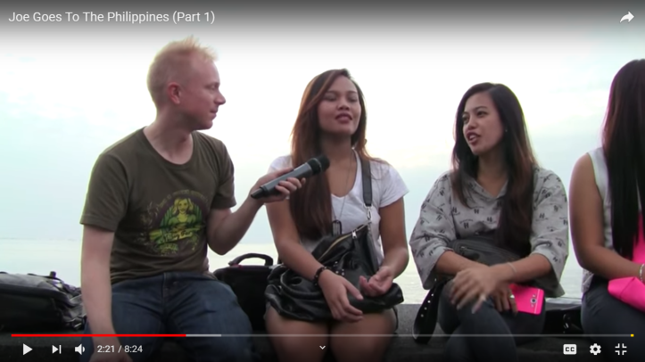 Joe interviewing filipinas