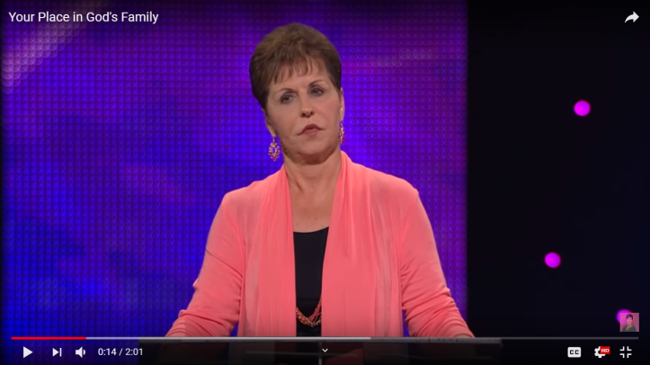 Joyce Meyer preaching about the Bible