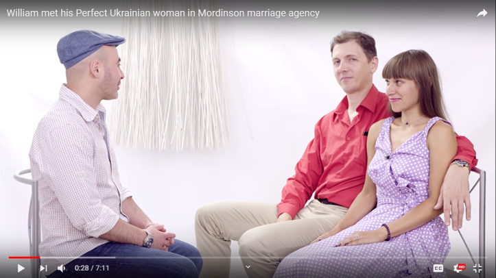 Michael Mordinson interviewing international couple