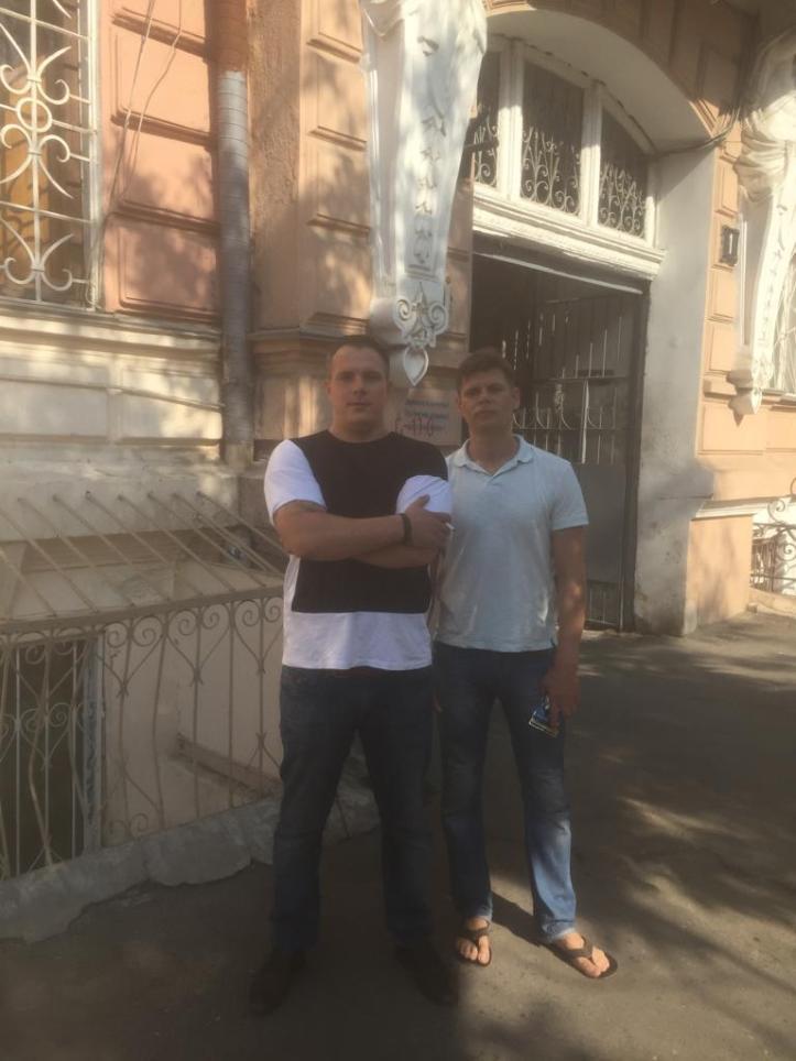 Sasha and Denis - Ukrainian friends