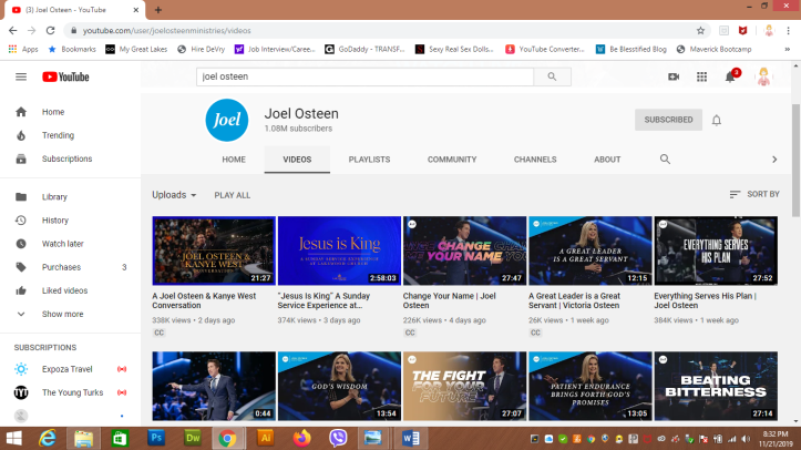 Joel Osteen YouTube channel