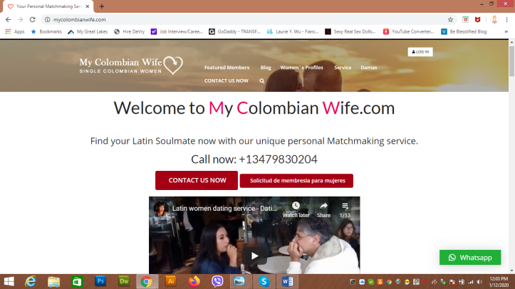 My Colombian Wife home webpage