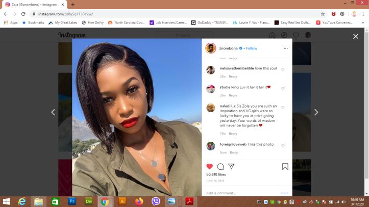 Zola Nombona - South African celebrity