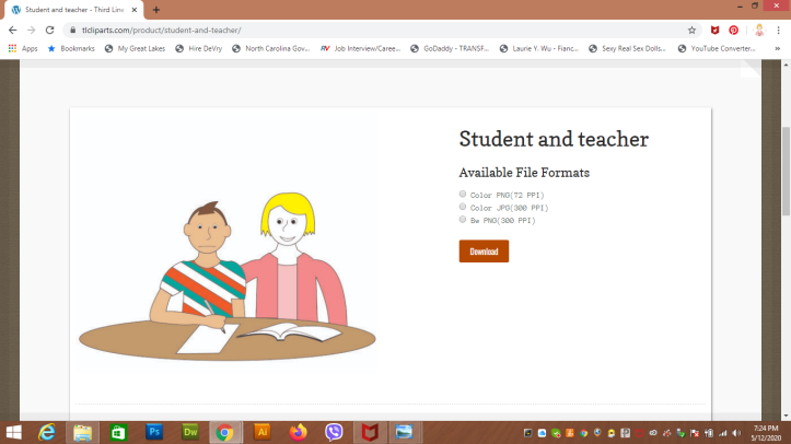 Student and teacher webpage