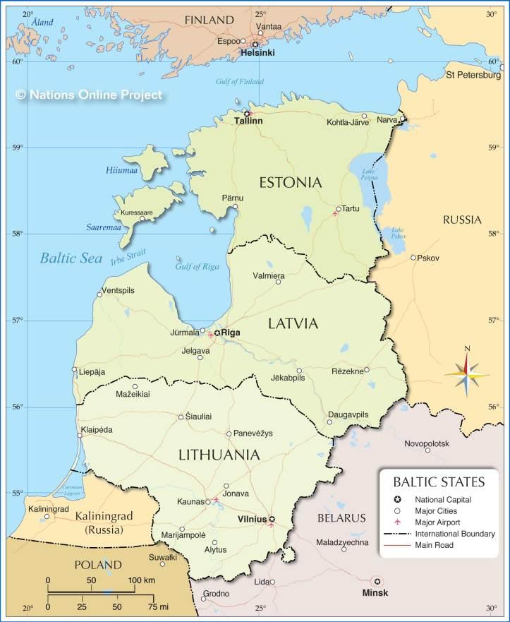 Baltik-states-map
